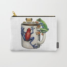 """""""Coffee Frogs"""" - Java Jungle collection Carry-All Pouch"""