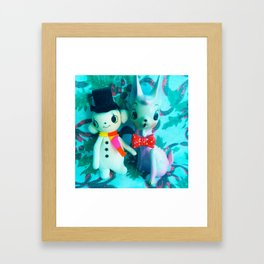 frosty and rudolph Framed Art Print