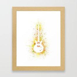 Guitar Heroes - Carlos Santana Framed Art Print