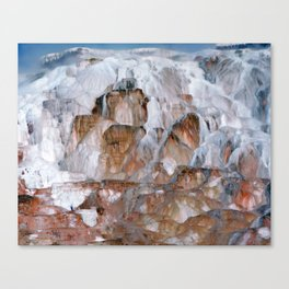 Mammoth Hot Springs Yellowstone Canvas Print
