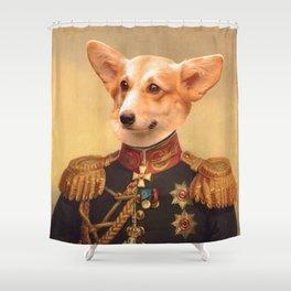 Corgi General Portrait Painting | Corgi Lovers! Shower Curtain