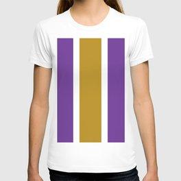 TEAM COLORS 10...GOLD,PURPLE T-shirt
