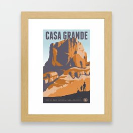 Big Bend Travel Poster Framed Art Print