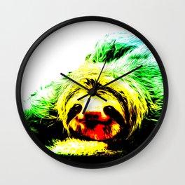 A Smiling Sloth II Wall Clock