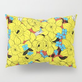 Daffodils spring floral pattern Pillow Sham