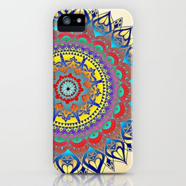 "Vintage Inspired ""Aloha"" Mandala Print iPhone Case"