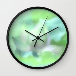 Soft Lotus Focus Wall Clock