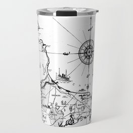 Vintage Map of Cape Cod BW Travel Mug