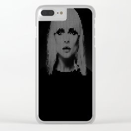 Heart of... (Black version) Clear iPhone Case