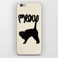 meow iPhone & iPod Skins featuring Meow by Florent Bodart / Speakerine