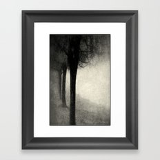 Twins in the Forest Framed Art Print