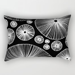 Under the Mushroom Circle Graphic Pattern in reverse Rectangular Pillow