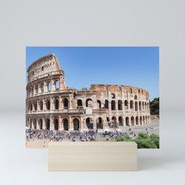 The Colosseum in Rome, Italy Mini Art Print