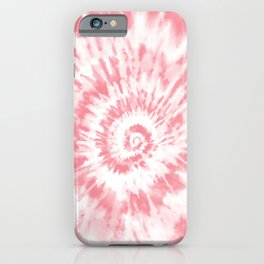 Lighter Red Tie Dye iPhone Case