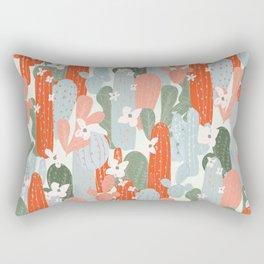 Floral Cactus Rectangular Pillow