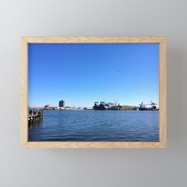 Baltimore harbor in the morning | Fed Hill | Maryland Framed Mini Art Print