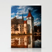 castle in the sky Stationery Cards featuring Castle by DistinctyDesign