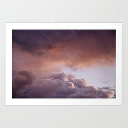 Clouded romance Art Print