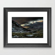 Gloomy Mountains Framed Art Print