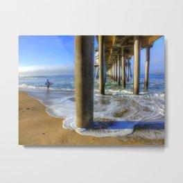 Goin' Surfin' Huntington Beach Pier Metal Print