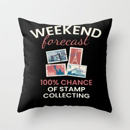 Chance Of Stamp Collecting Throw Pillow