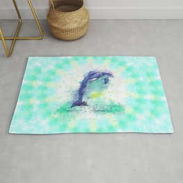 Tie and Dye Dolphin Rug