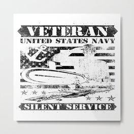 Navy Silent Service Metal Print