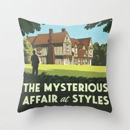 Agatha Christie - The Mysterious Affair at Styles Throw Pillow