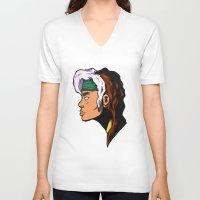 xmen V-neck T-shirts featuring x5 by jason st paul