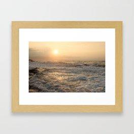 sunset hookipa beach maui hawaii Framed Art Print