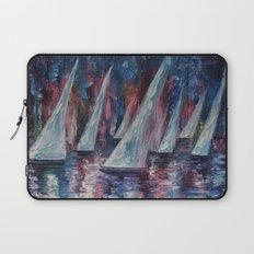 Sailboats (Palette Knife) Laptop Sleeve