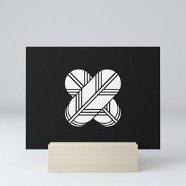 Kikuchi Clan · White Mon Mini Art Print