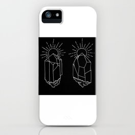 Crystals Duo Glowing Gemstones Design iPhone Case