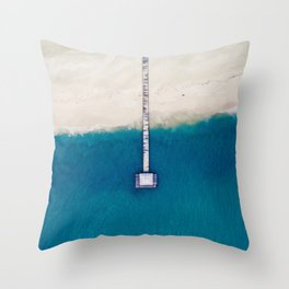 Pier to the Ocean (Color) Throw Pillow