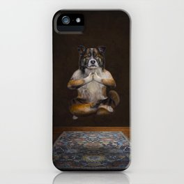 Meditating Dog iPhone Case