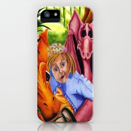 Abigail and her Dragons iPhone Case