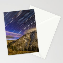Full moon over Torries peak Stationery Cards
