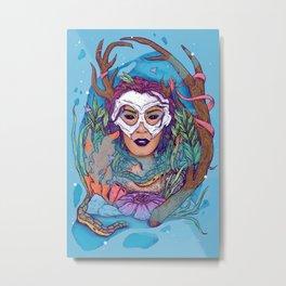 earth • wind • fire • WATER: Vibrant Metal Print