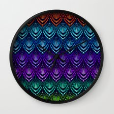 Variations on a Feather I - Deco Style Wall Clock