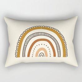 Distressed Earth Tones Rainbow Rectangular Pillow