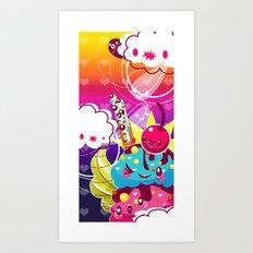 Sundae Sunset Art Print