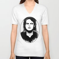snl V-neck T-shirts featuring DARK COMEDIANS: Bill Hader by Zombie Rust