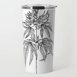 Cannabis Illustration Travel Mug