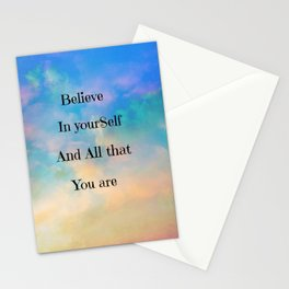 Positive Thinking Stationery Cards