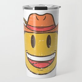 Cowboy Rancher cattleman  Smiley Gift Travel Mug