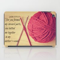 scripture iPad Cases featuring Psalm 139 Baby Scripture by KimberosePhotography