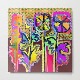 ARTIFICIAL FLOWERS Metal Print