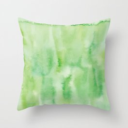 Watercolor abstract many color no.18 Throw Pillow