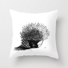 Flower Pot Throw Pillow
