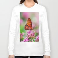 wedding Long Sleeve T-shirts featuring Wedding Butterfly by BeachStudio
